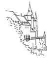medieval castle in segovia spain hand-drawn vector image