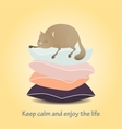 Motivational Keep calm and enjoy life Cute cat vector image vector image