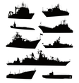 Naval set vector image