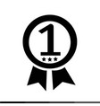 number one icon design vector image