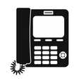 Office phone black simple icon vector image vector image