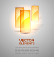 Orange Elements vector image