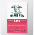 organic meat abstract packaging design or vector image vector image