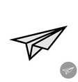 Paper airplane simple icon vector image