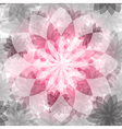 Pink-gray floral seamless pattern