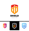 rate shield secure logo template design vector image