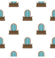 retro balcony with an arched window pattern flat vector image vector image