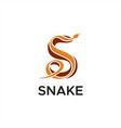s snake logo vector image vector image