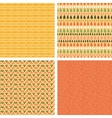 set four abstract stripes horizontal seamless vector image