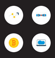set of modern icons flat style symbols with trend vector image