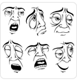 Sleepy face - set vector image