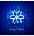 snow flake design vector image vector image
