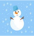 snowman cold christmas season winter white man in vector image