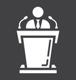 Speaker solid icon business and tribune vector image