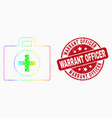 spectrum pixel medical case icon and grunge vector image vector image