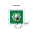 State of Washington flag postage stamp vector image vector image