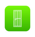 steel door icon digital green vector image