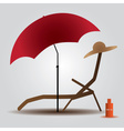 summer beach parasol and bed eps10 vector image vector image