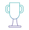 trophy cup championship award vector image vector image