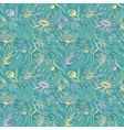 Turquoise floral pattern vector image