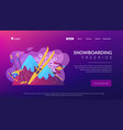 winter extreme sports concept landing page vector image