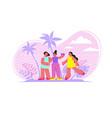woman friendship flat composition vector image vector image