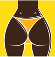 womans buttocks vector image