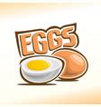 logo for chicken egg vector image