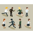 Isometric cartoon businessmen and business women vector image