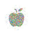 abstract apple splash vector image