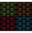 Set seamless damask pattern vector image