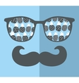 Abstract face of man in glasses