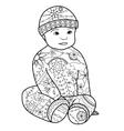 Baby boy coloring vector image vector image