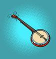 banjo musical instrument vector image