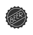 beer cap icon vector image