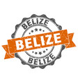belize round ribbon seal vector image vector image