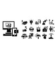 brand icon set simple style vector image vector image