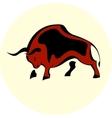 Bull attack icon vector image vector image