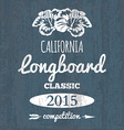 California longboard competition t-shirt graphic vector image