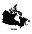 canada map icon simple style vector image vector image