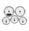 car dashboard 3d gauges speedometer tachometer vector image vector image