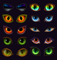cartoon eyes devil eyeballs of beast or vector image