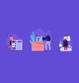 characters work and visit laundry female worker vector image