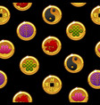 chinese seamless pattern with traditional coins vector image