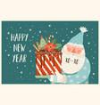 christmas and happy new year of santa vector image
