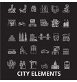 city elements editable line icons set on vector image