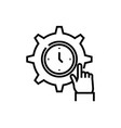 clock settings line icon concept sign outline vector image
