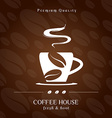 Coffee House cover presentation vector image vector image