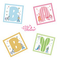 collection alphabet letters for kids vector image vector image