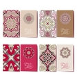 collection ornamental floral business cards vector image vector image